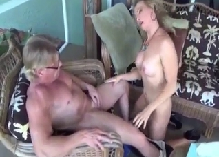 Busty blonde mommy fucking her brother