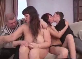 Full-on foursome incest orgy in the family