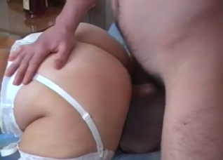 Nurse/mommy sucking her drunk son's cock