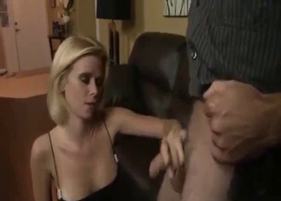 Blond-haired chick fucks her hung brother