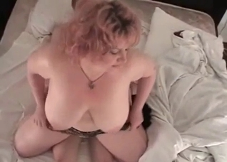 Pudgy mommy fucking her skinny son