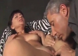 Mature brunette fucking her own brother
