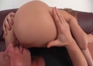 Blonde enjoys facesitting her horny father