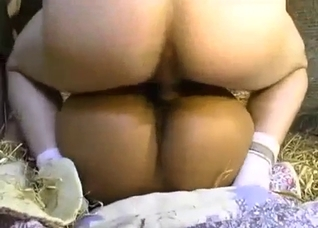 Extra-tanned chick in a hardcore incest gang-bang