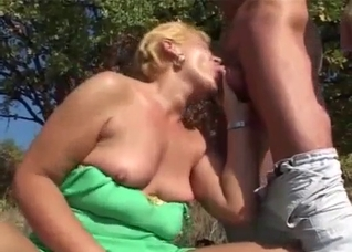 Outdoors blowjobs and incest fucking in a foursome