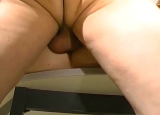 Daughter seducing father in his office