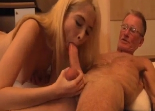 Blonde gets banged by her old-as-fuck father